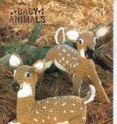 Baby Animals - Whitetail Fawn - 87B73 - Barbara Anderson - Annie's Pattern club 1984