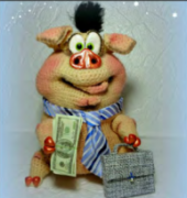 Pig Pishkin the bank - Olga Lobacheva -Russian
