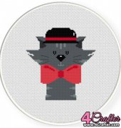 Gentleman Cat - Daily Cross Stitch