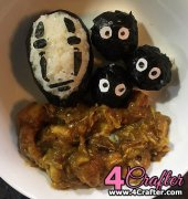 No face and soot balls curry rice