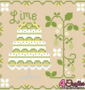 Lime Shortcake - Cakes Series - Nikki Leeman - Country Cottage Needleworks