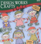Festive Elves Ornaments - 1671- Ronnie Walter - Design Works Crafts