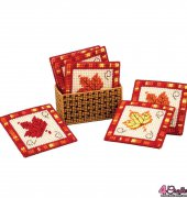 Fall Leaves Coasters and Holder - 270078 - Craftways