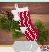 Coppola Candy Cane Stocking - Briana A. Kepner - Briana K Crochet