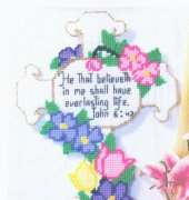 Everlasting Life Cross - Kathleen Hurley - Heartland Stitches - free