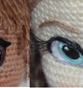 How to Embroider Eyes on Amigurumi - Olga - Translated from Spanish to English