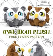 Owl Bear Plush - Choly Knight - Sew desu ne? - free