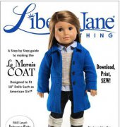 "Le Marais Coat - Fits 18"" Dolls - Liberty Jane Clothing"