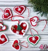 Christmas Hearts - Golden Lucy Crafts - Free
