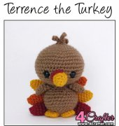 Terrence the Turkey - Theresa Gray - Affordable Cuteness - Theresas Crochet Shop