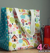 Simple Lunch Bag Pattern - Ellen Luckett Baker - The Long Thread - Free
