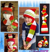 Long Tail Scarf Hat - Heidi Yates - Snappy Tots