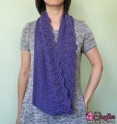 a6bc29eaadc425 Olivia - A Lace Border Loop Scarf - Vicky Chan