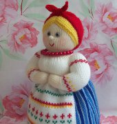 Master class Dunyasha - knitted doll - warmer for a teapot - Zabelina Svetlana - Russian