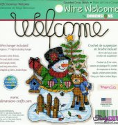 Snowman Welcome - 8726 - Wire welcome - Debra Jordan Bryan - dimensions