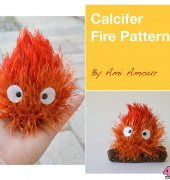 Calcifer Fire Pattern - AmiAmour - AmiAmour designs