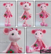 Free Knitting Pattern Angelina Ballerina : Amigurumi en ESPAnOL - Collection - 4Crafter Free Crafting ...