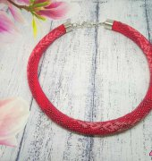 Bead crochet necklace_3