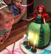 Disney mermaid princess Ariel cake