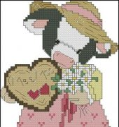 A Whittle Love Goes a Long Way - Mary's Moo Moos - B109 - Designs by Gloria and Pat
