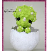 Tronco the Chibi Triceratops - Lorena da Silva - Elfin Thread
