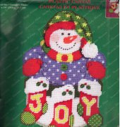 Snowman and stockings - Janlynn