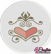 Heart Ornament - Daily Cross Stitch