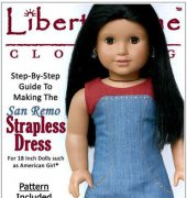 "San Remo Dress - Fits 18"" Dolls - Liberty Jane Clothing"