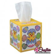 Easter Egg Chick Tissue Box Cover - 020010 - Craftways