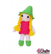 Strawberry Girl Doll Crochet Pattern - Veronica Kay