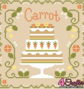 Carrot Cake - Cakes Series - Nikki Leeman - Country Cottage Needleworks