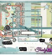 Modish Boy Collection Scrapbook Kit - Shabby Princess
