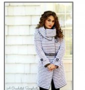 Women's Houndstooth Jacket - Jennifer Pionk - A Crocheted Simplicity