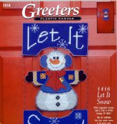 Greeters let it snow - 1416 - Janlynn - The Sugarplum Express