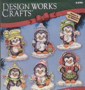 Winter Penguins Ornament Set - 2286 - Karen Harran - Design Works Craft