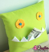 Monster Tooth Pillow - Ellen Luckett Baker - The Long Thread - Free