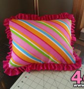 Stripey Pillow with Ruffles - my own design