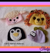 Baby Animal Hats 3 - 211 - Shirley Ross and Fiona Thompson - ShiFio's Patterns
