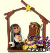 Holy Family with Stable by Sculpey (free)
