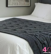 North of the River, Cable Blanket Knitting Pattern - Fifty Four Ten Studio
