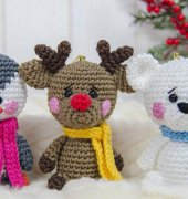 Christmas Ornaments Reindeer Penguin and Polar Bear - Carolina Guzman - One and Two Company