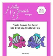Plastic Canvas Set Seven - Sad Eyes Sea Creatures - Kathy Barwick Designs
