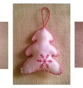 christmas felt ornaments with snowflake - unknown