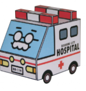 Itaitai, Ambulance - BoooN! City - 003 - Sorairo and isDesign - Japanese - Free