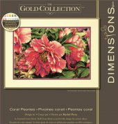 Coral Peonies - 70-35298 - The Gold Collection - Rachel Perry - Dimensions