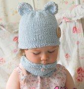 Mouse hat and cowl – Muki crafts – Free