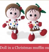 Doll in a Christmas muffin outfit - 172 - Galina Stelmakhova - Little Owls Hut