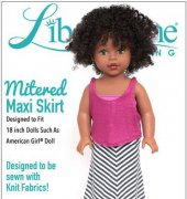 "Mitered Maxi Skirt - Fits 18"" Dolls - Liberty Jane Clothing"