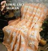 Floral Lace Afghan - Ellen Anderson Eaves - Annie's Crochet Quilt Afghan Club
