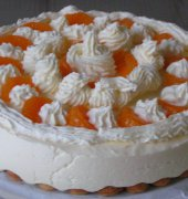 My cheesecake, with mandarins.